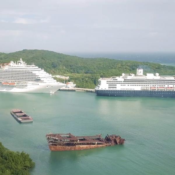 Cruceros en Mahogany Bay, Roatán, Islas de la Bahía. Foto Deiby Yanes