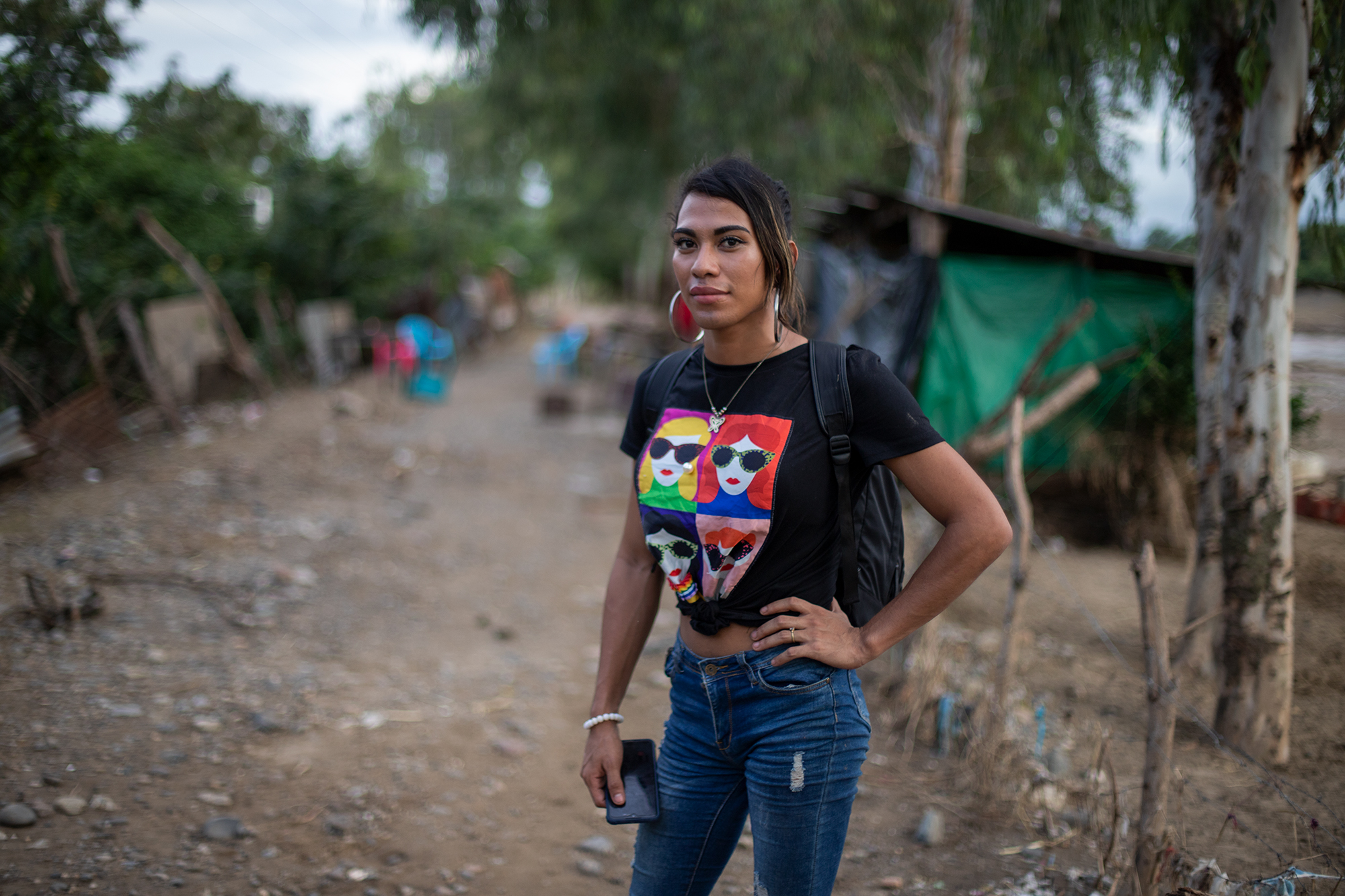 Roxy is 25 years old. She was born and raised in Chamelecón. Before the flooding provoked by the two tropical storms, Roxy was selling merchandise; this, and a monthly allowance from a brother in the United States, helped her survive.  San Pedro Sula, Nov. 20, 2020. Photo: Martín Cálix.