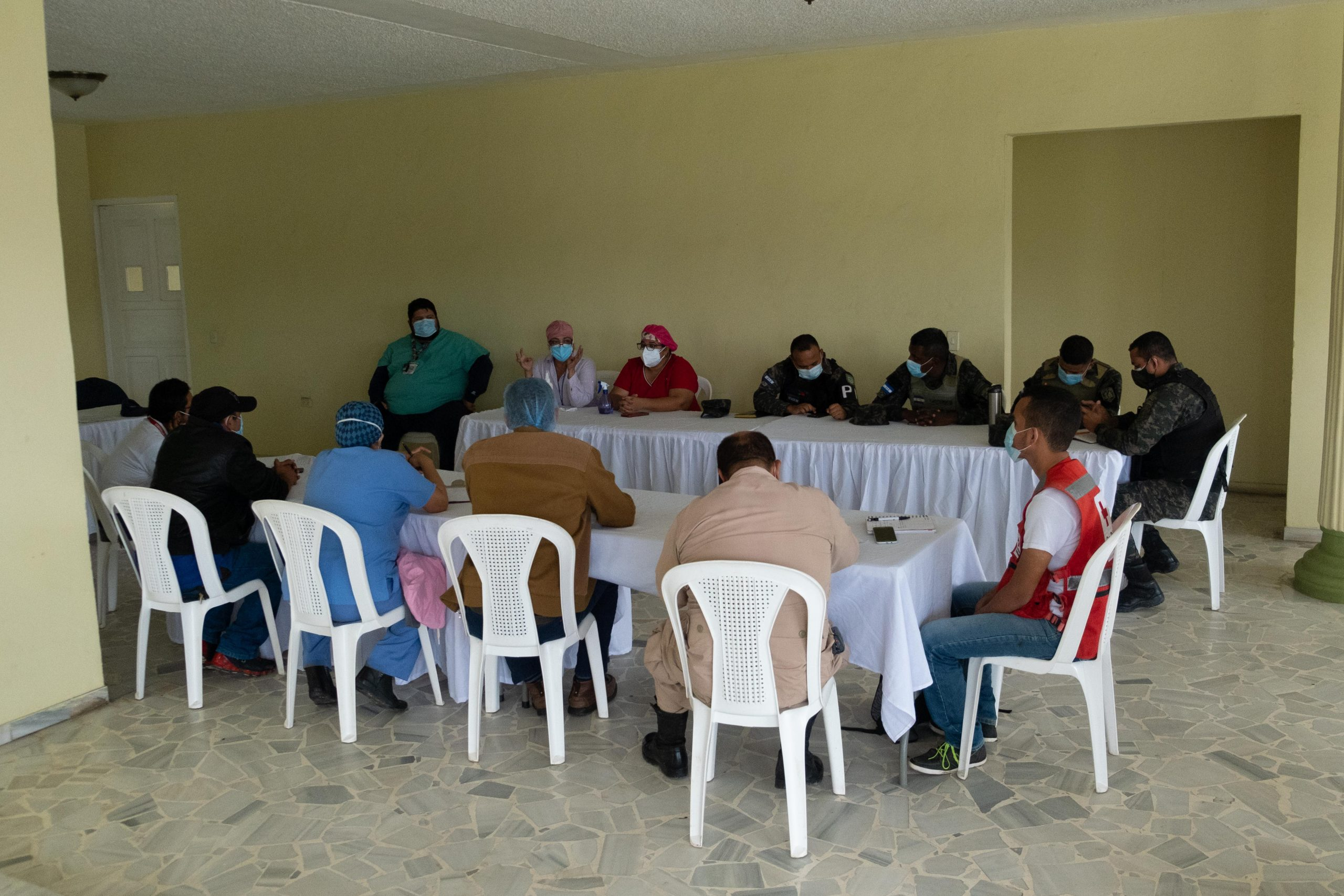 Reunión del Comité de Emergencia Municipal de El Progreso. 3 de Noviembre de 2020, Foto Deiby Yanes.