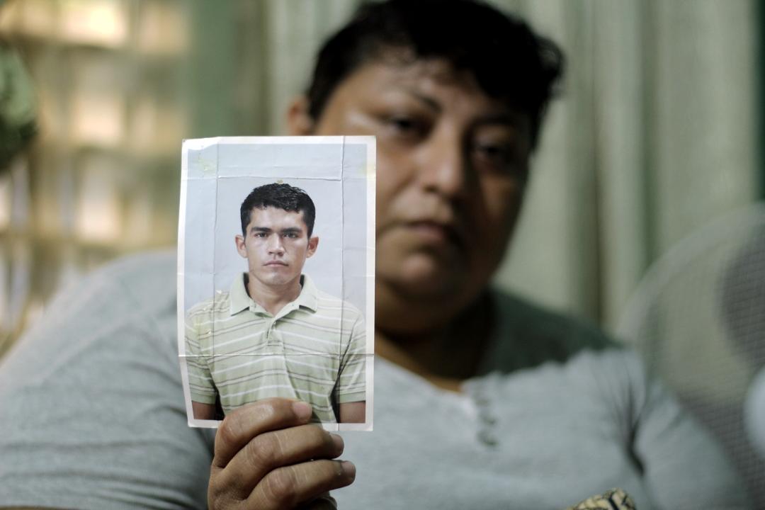 Karla Burgos, esposa de Olvin Villanueva preso en El Progreso, Yoro. Foto: Martín Cálix.