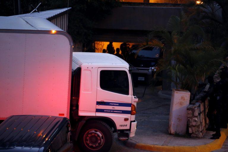 Un camión del Poder Judicial