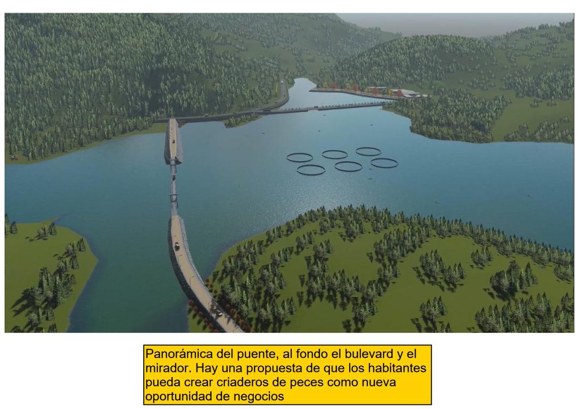 Imágenes de la proyección del proyecto Tornillito. Cortesía de Hidrovolcán.